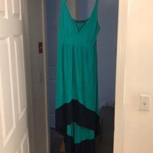High low color block dress!